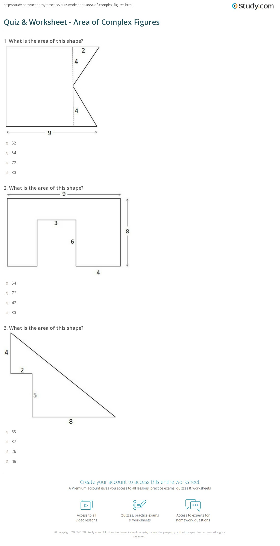 Worksheet Area Of Complex Shapes Worksheet Worksheet Fun