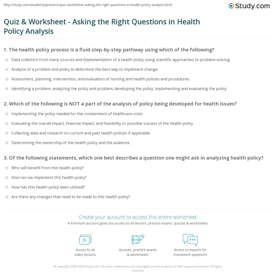 Affordable Templates Health Problemysis Worksheet