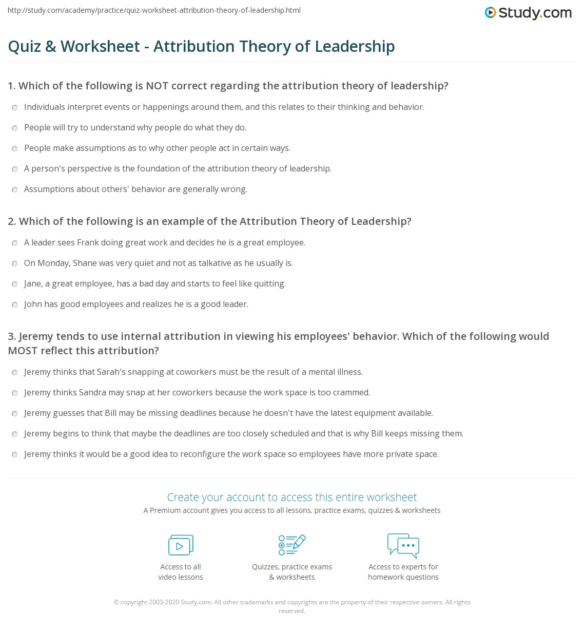 The Attribution Theory Of Leadership The Use Of The