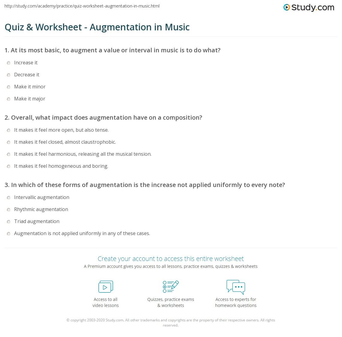 Quiz W Ksheet Ugment Ti Music Study