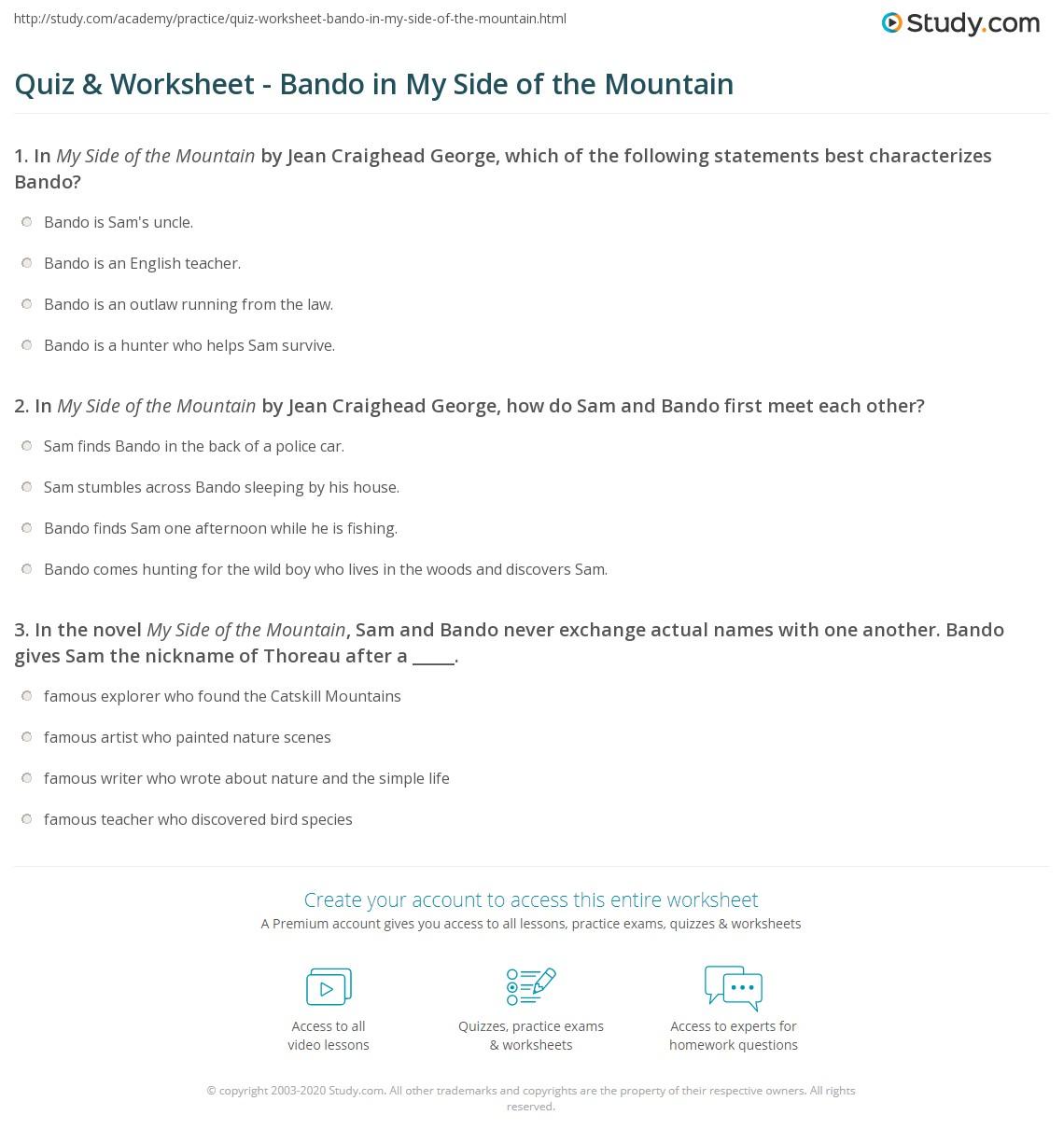 Math Mountain Worksheet