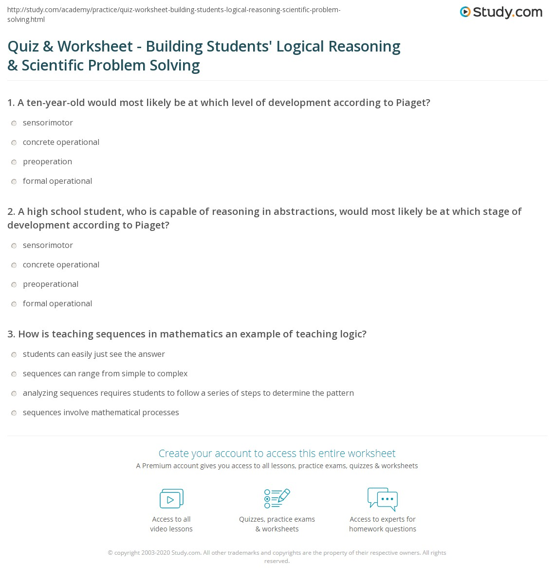 Syllogism Worksheet And Answers