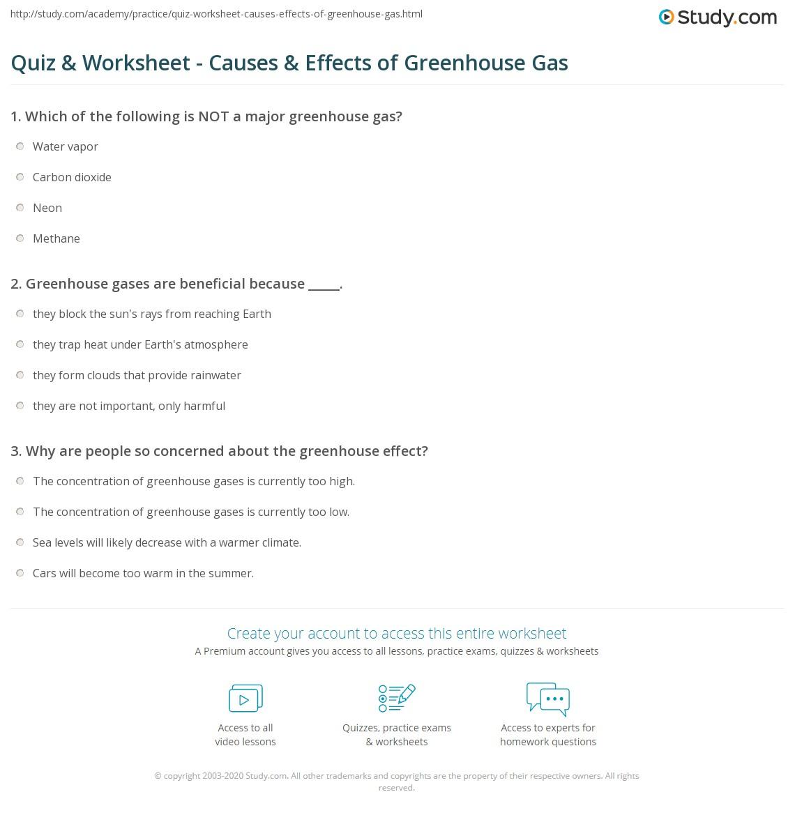 Atmosphere Worksheet Marketing