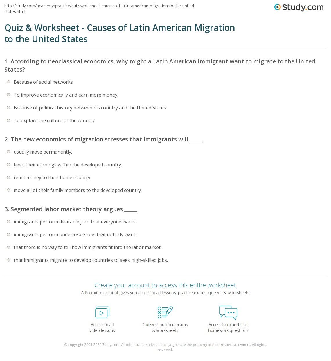 Latin America Worksheet