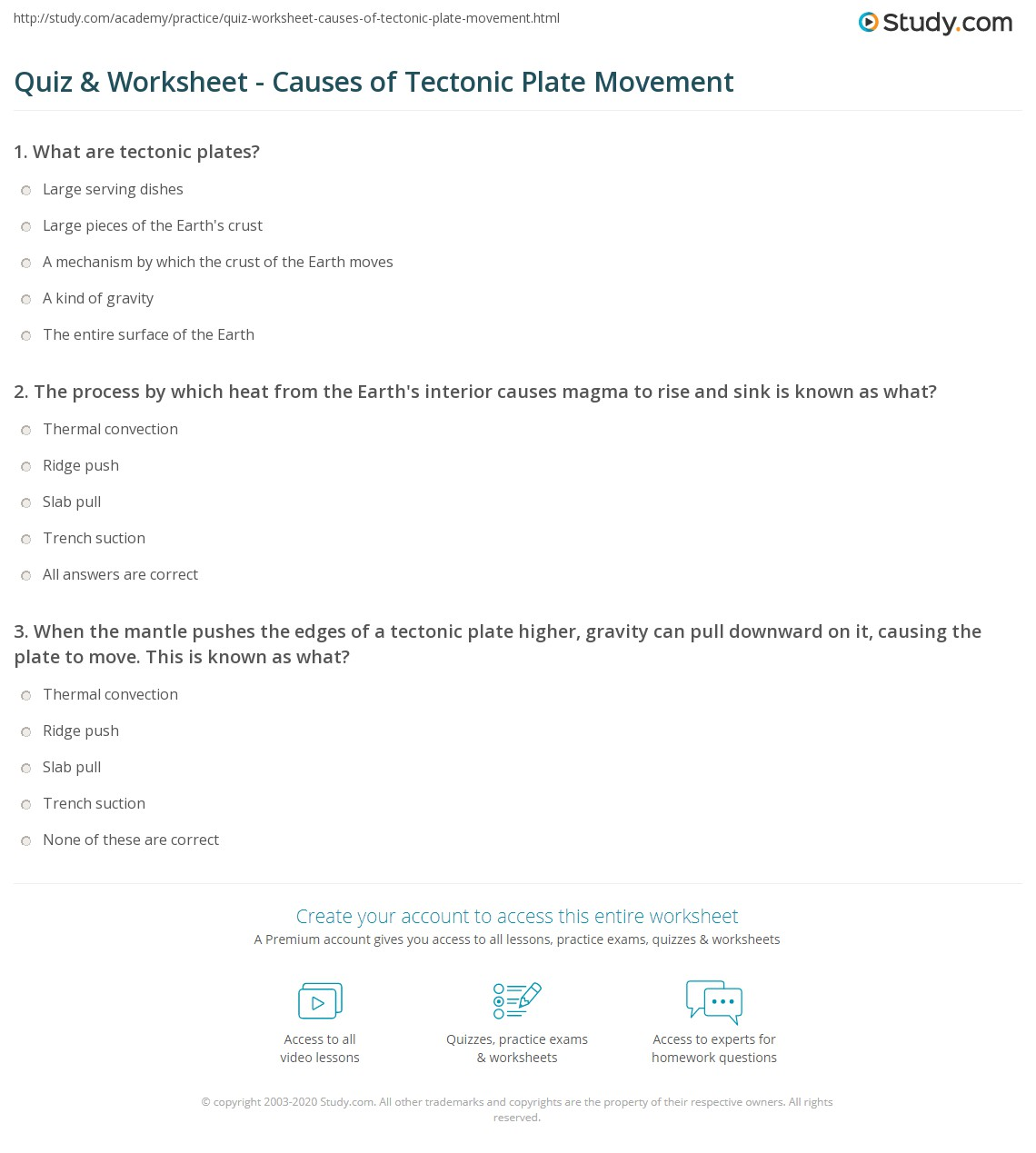 Plate Tectonics Earth S Interior Worksheet Answers