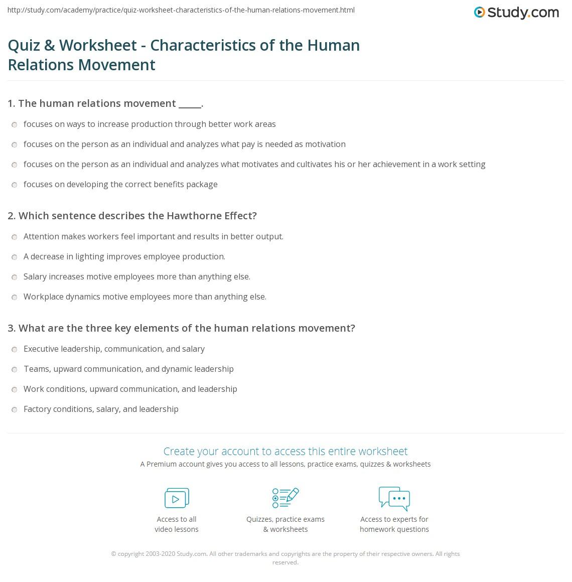 Human Characteristics Definition
