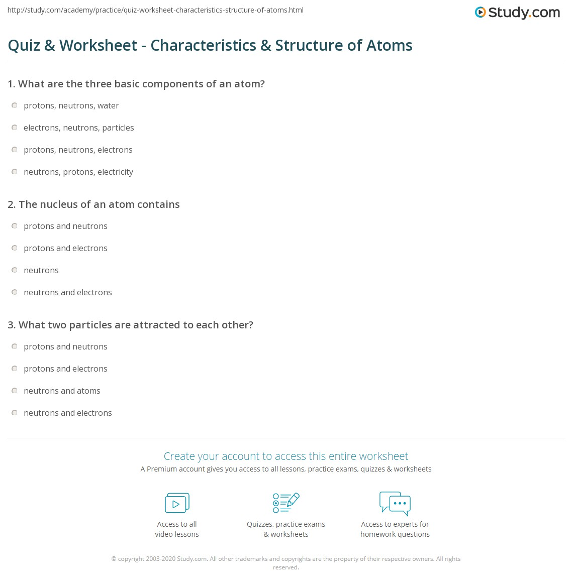 Worksheet Basic Atomic Structure Worksheet Answers Grass Fedjp Worksheet Study Site