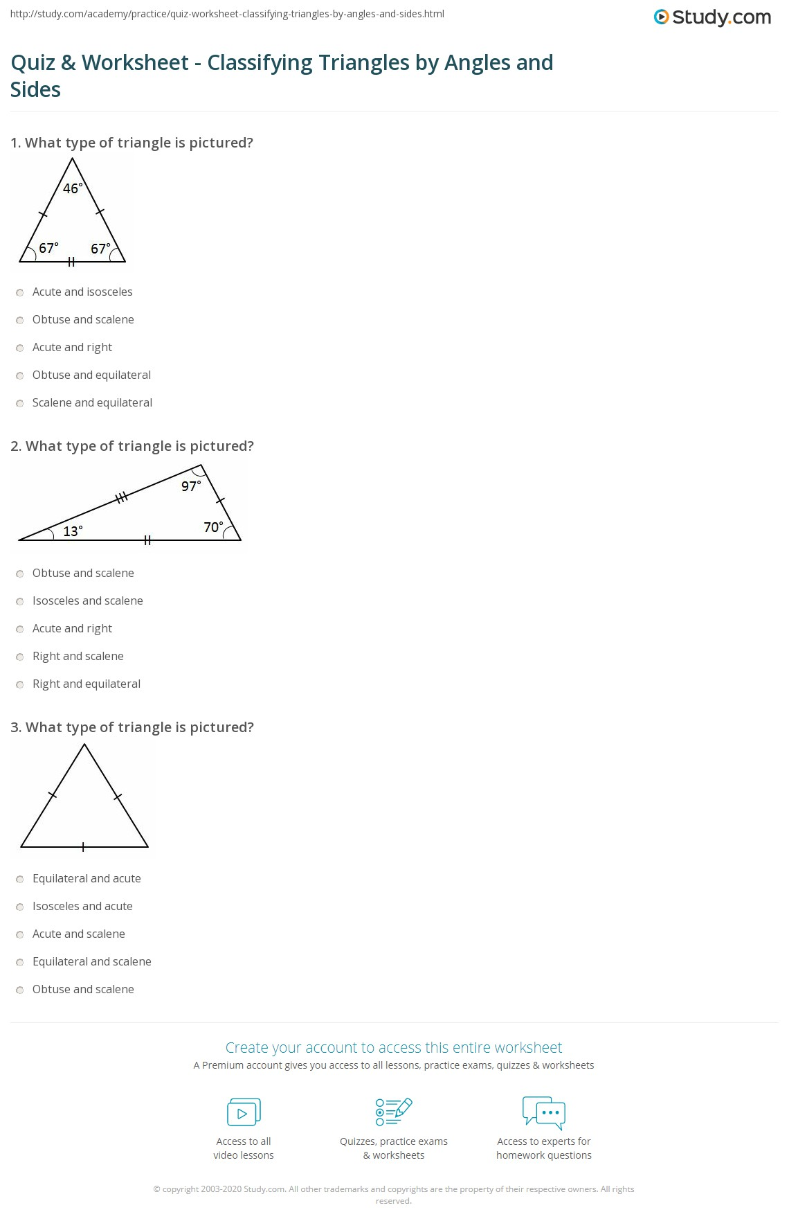 Worksheet Triangle Angles Worksheet Grass Fedjp