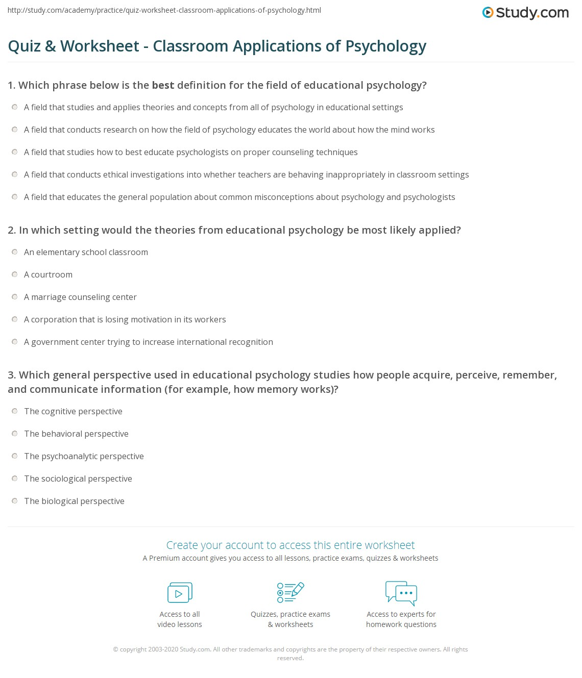 Psychology Problem Solving Worksheet Stages Of Problem