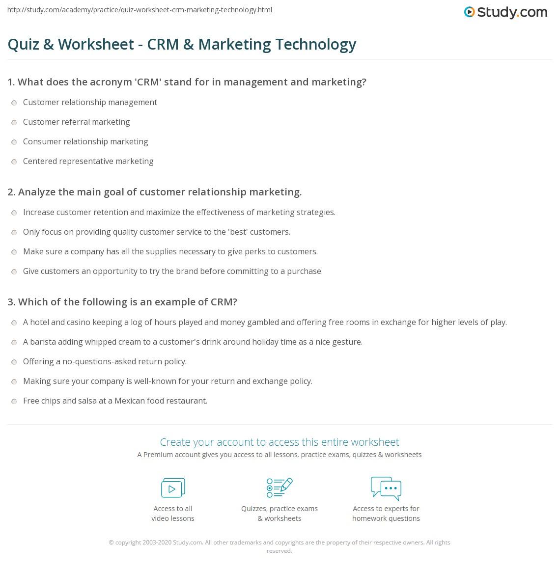 Comfortable Worksheets Crm Worksheet Cheatslist Free