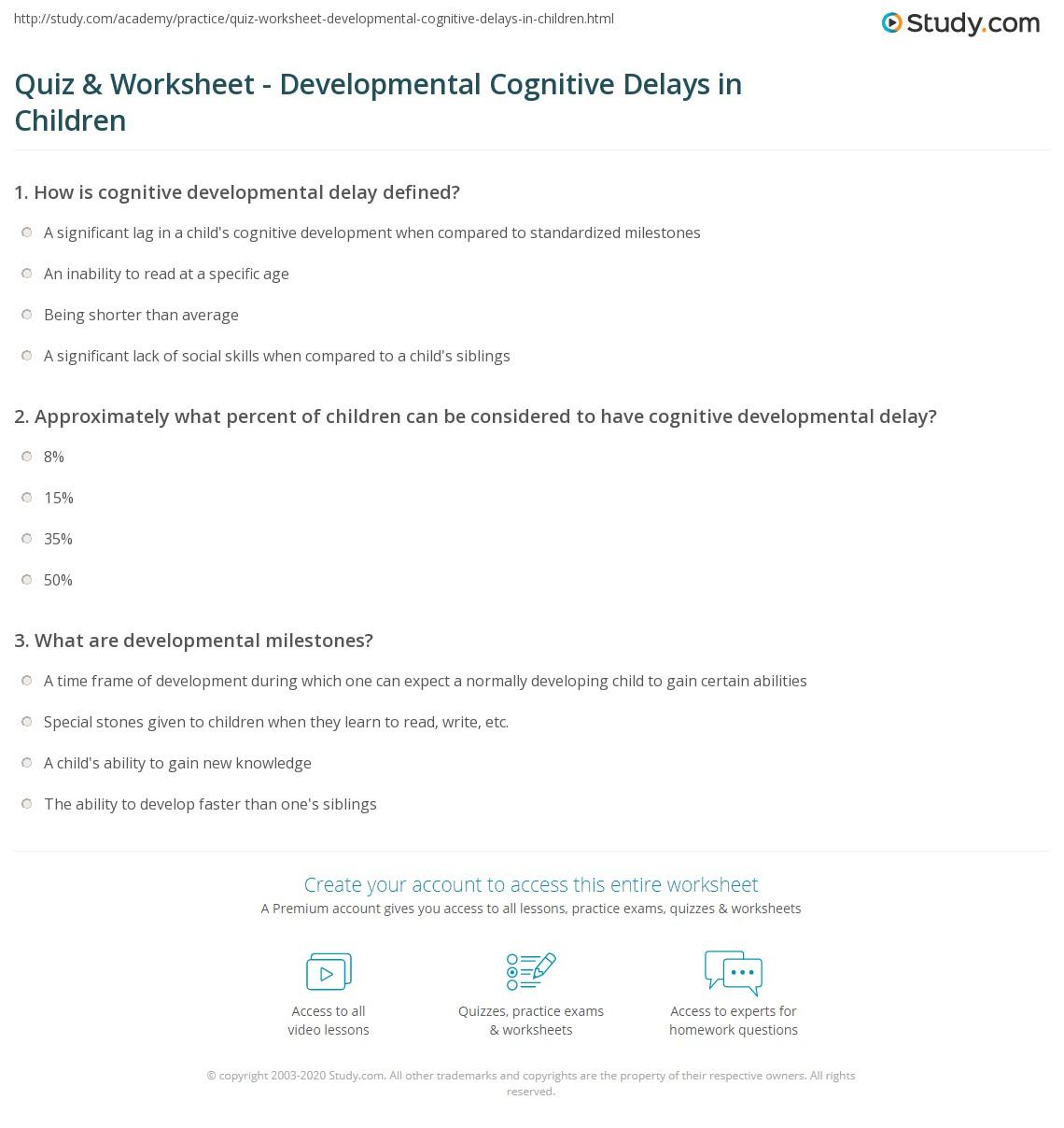 Developmental Delay Definition