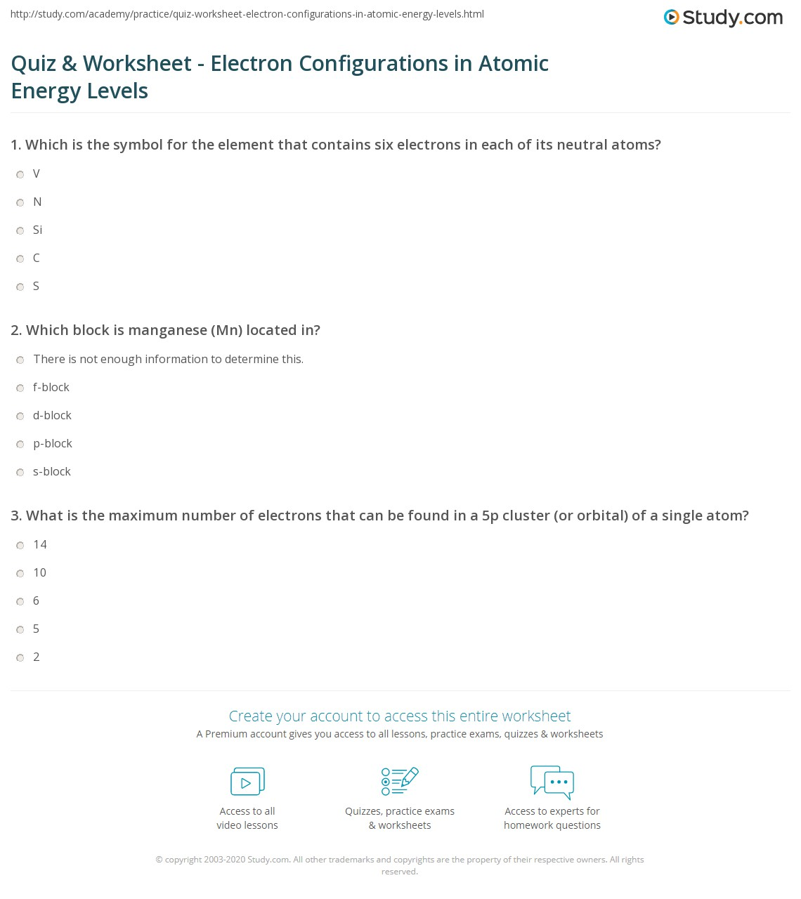 32 Electron Configuration Level Two Worksheet Answers