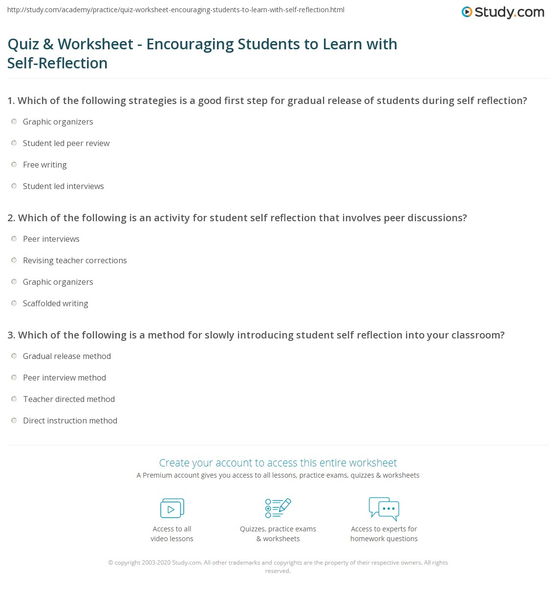 Student Interview Worksheet