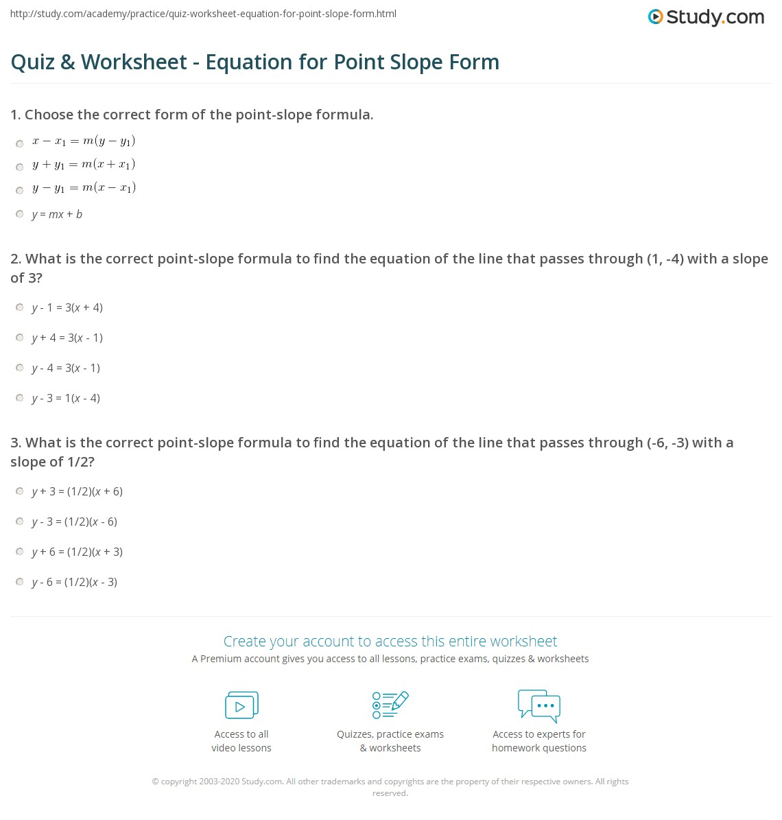 Standard Form To Slope Intercept Form Worksheet Kuta