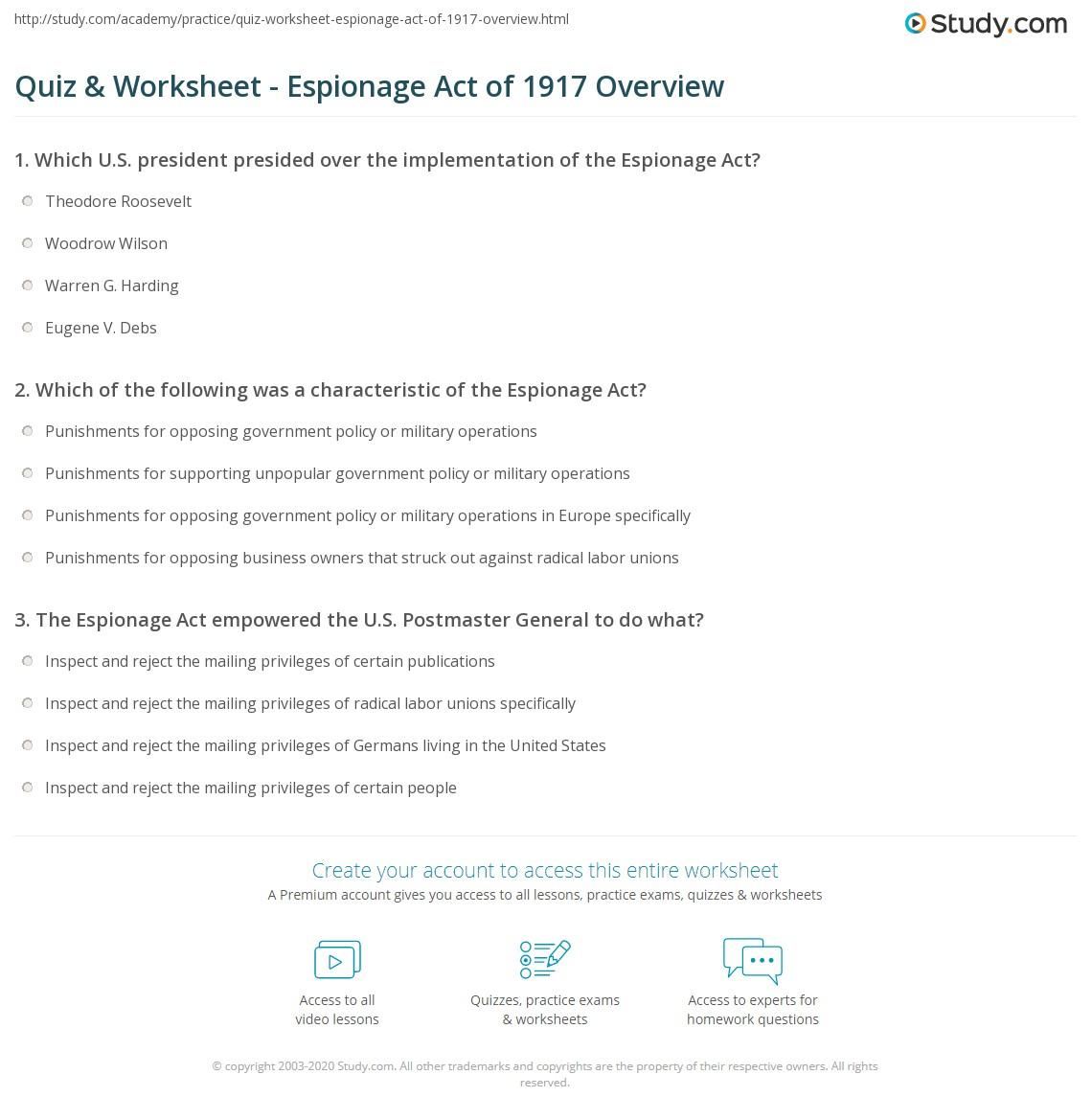 Sedition Act Summary Writing