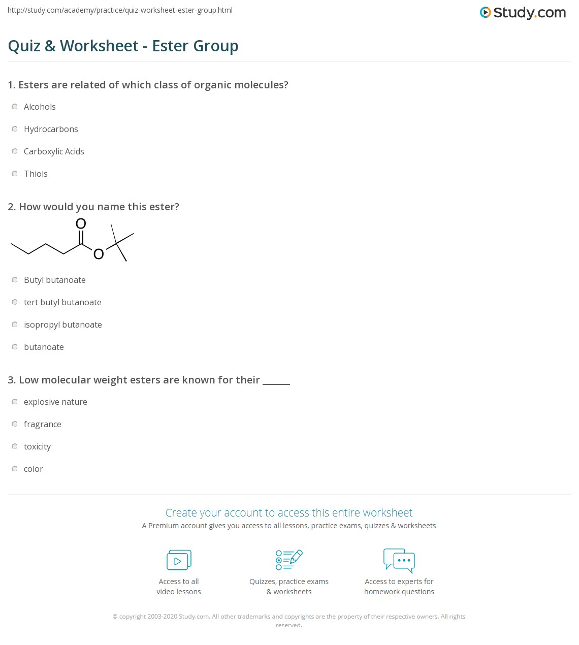 26 The Complete Organic Chemistry Worksheet Answers
