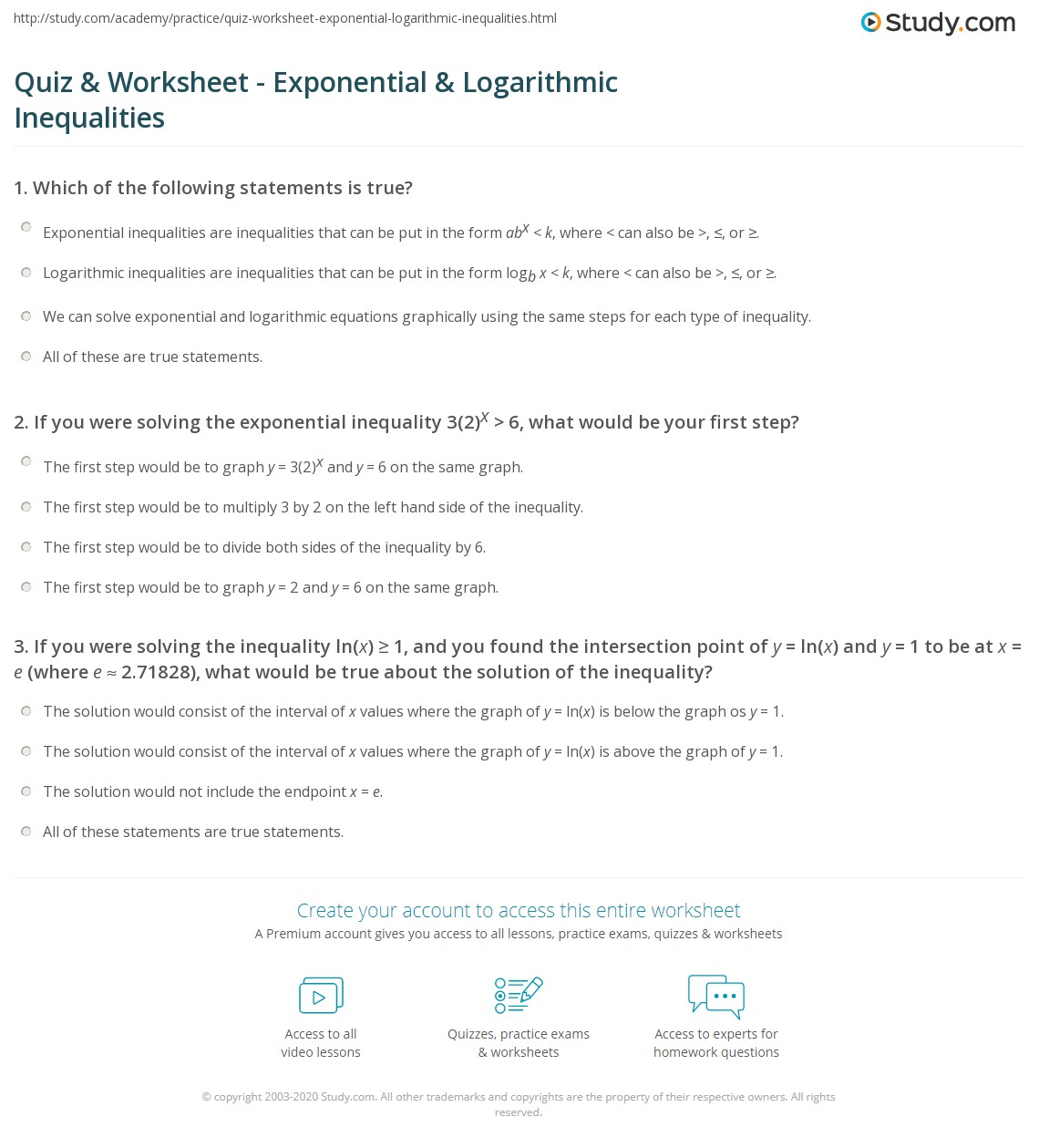Solving Logarithmic Equations Worksheet With Answers
