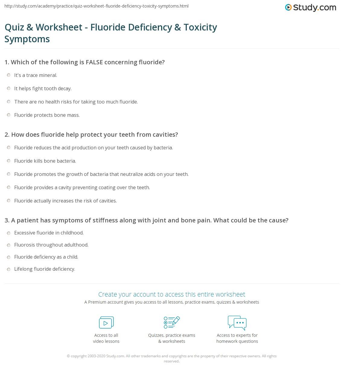 Fluoride Deficiency Gallery