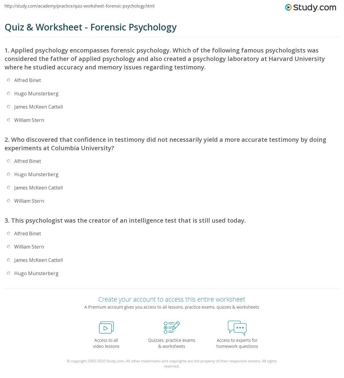 Forensic Psychology Definition