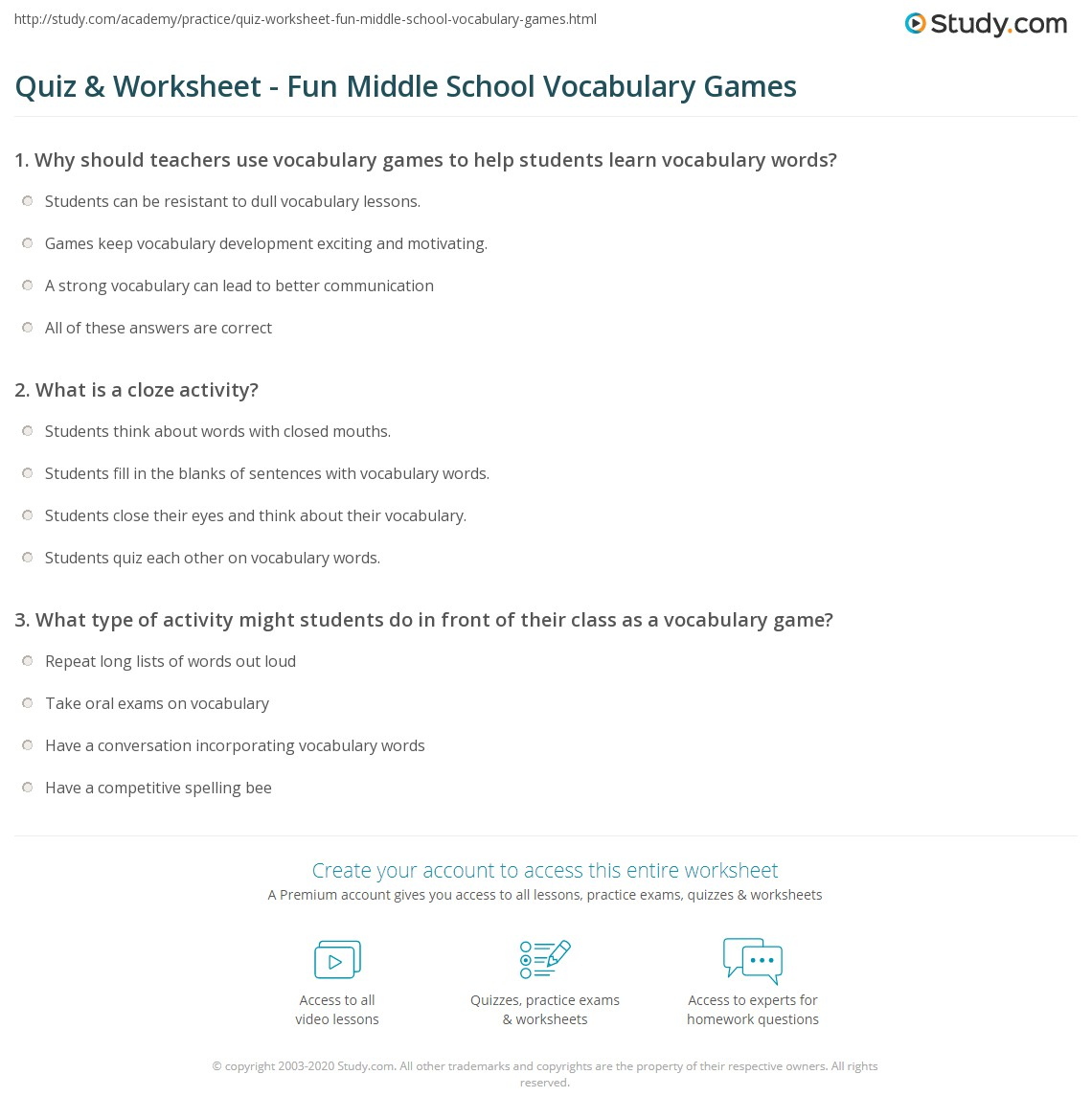 Download Fun English Games For Middle School Free
