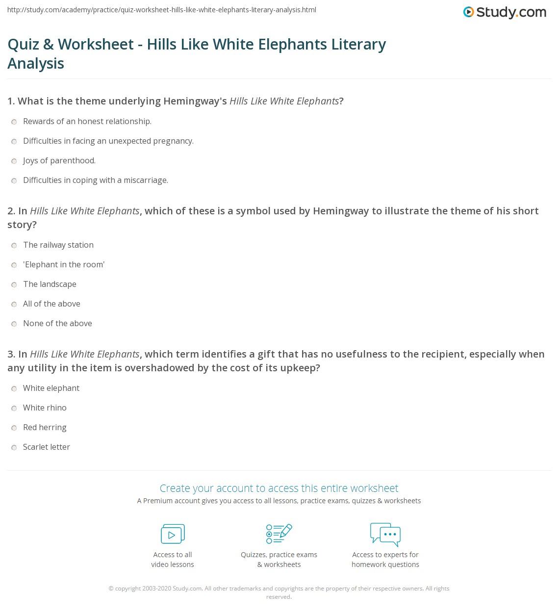 Elephant Worksheet Geography