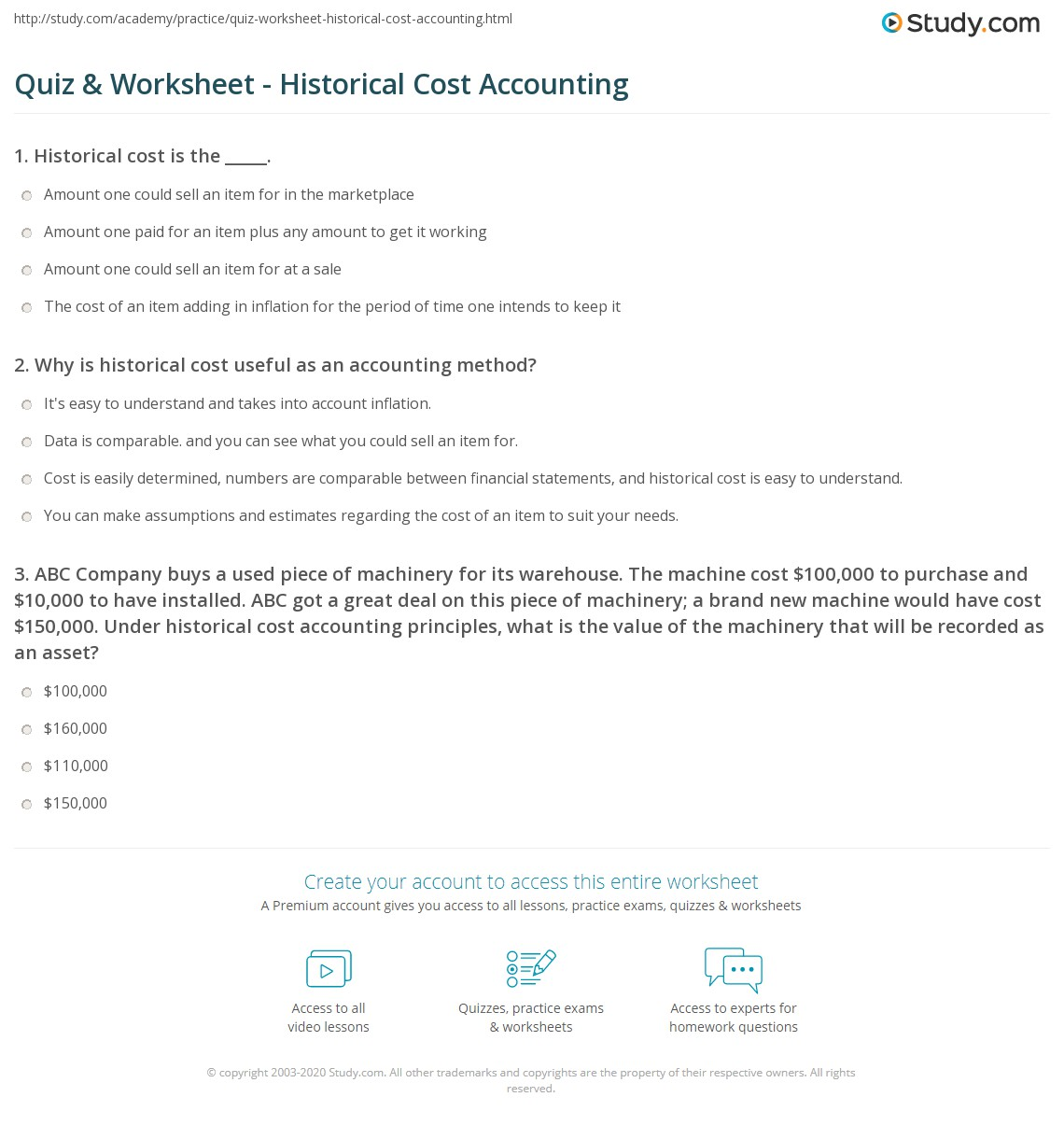 Cost Accounting Worksheet Frc