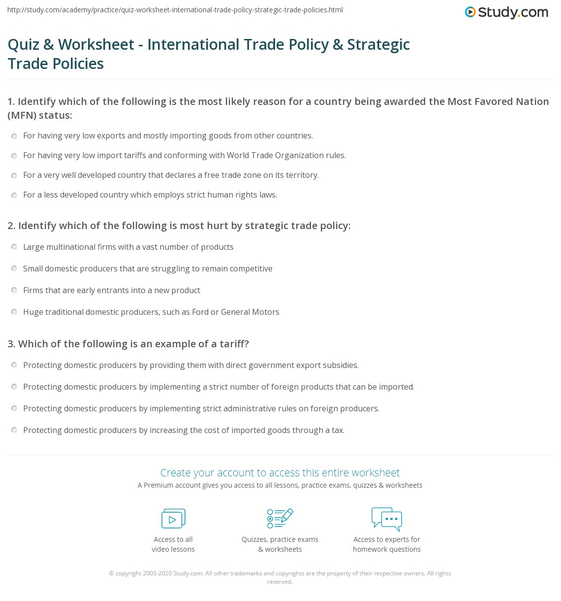 Government Intervention In International Trade Government