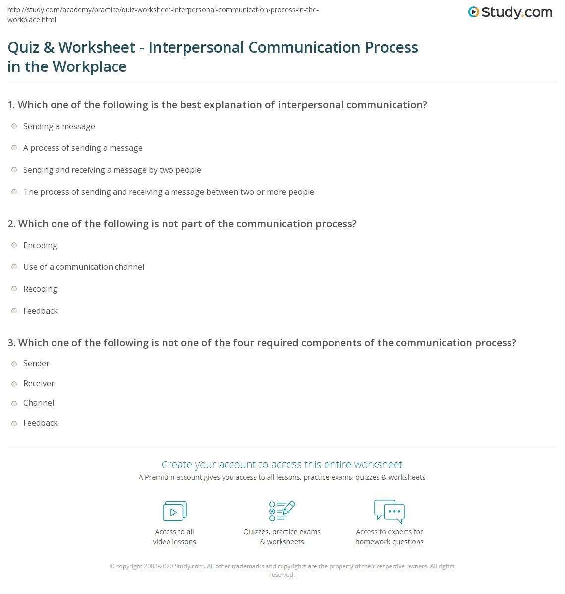 Get The Message Worksheet