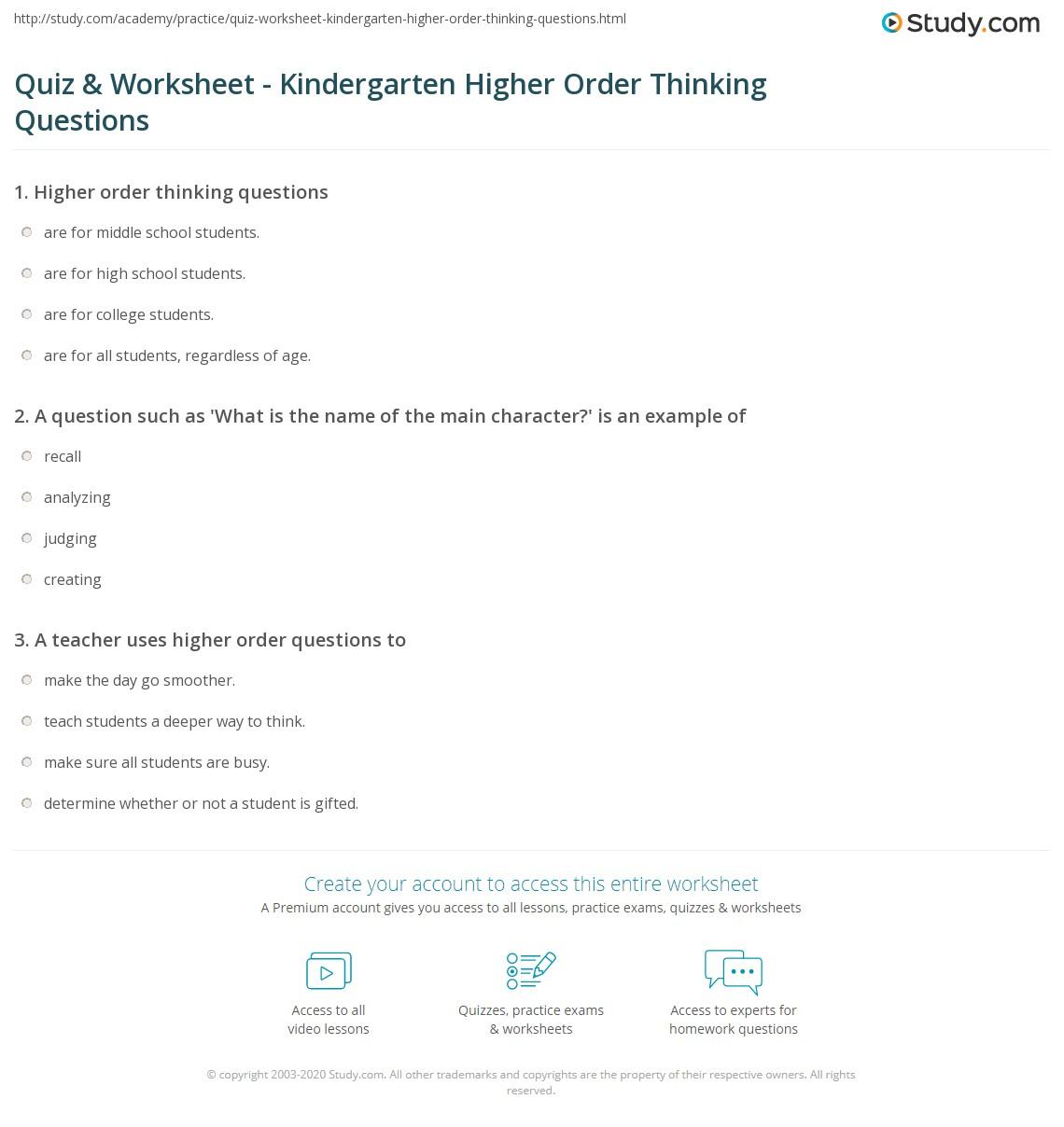 Printables Questions For Kindergarten Messygracebook Thousands Of Printable Activities