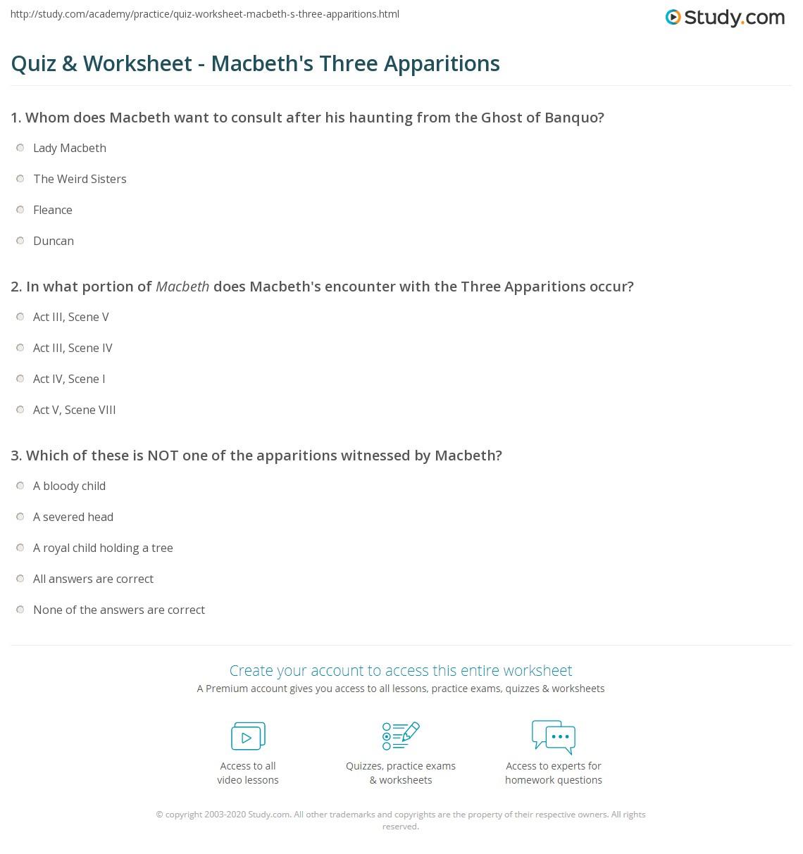 Apparitions In Macbeth Essay