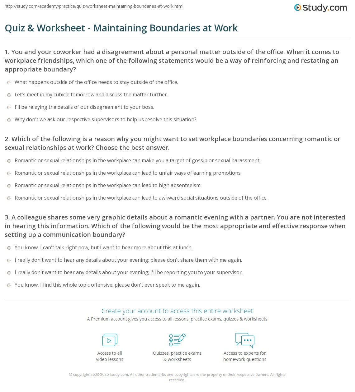Boundaries Worksheets And Handouts
