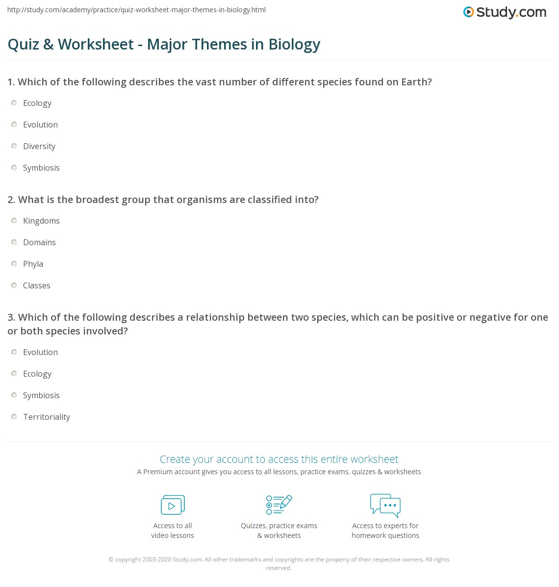 Quiz W Ksheet M J Mes Biology Study