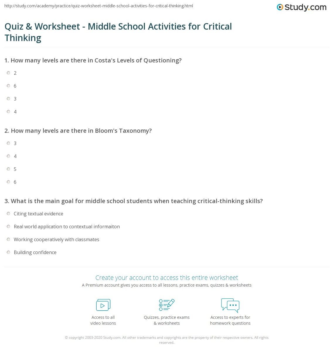 Paper Critical Thinking Activities Elementary Students Get