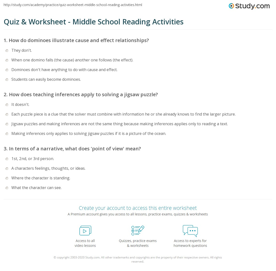 Presidents Worksheet For Middle School