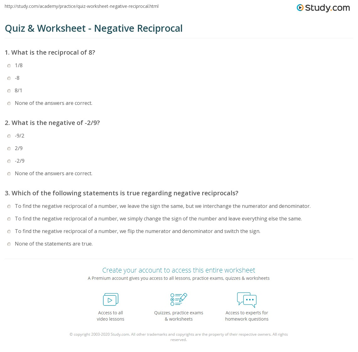 What Is The Reciprocal Of 3