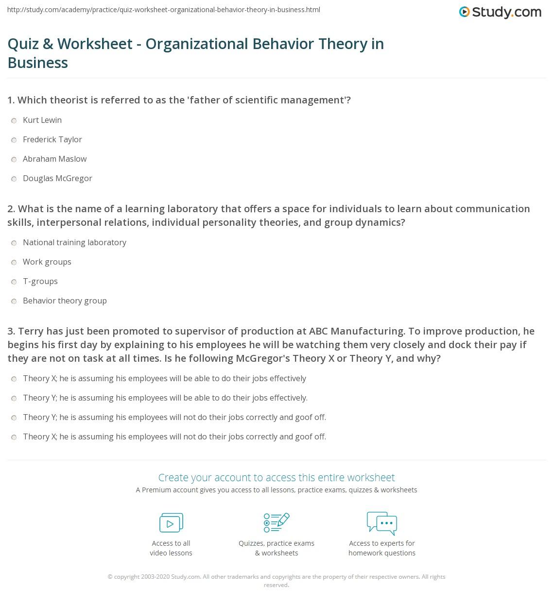 Organizational Behavior Theories Best 5 Organizational
