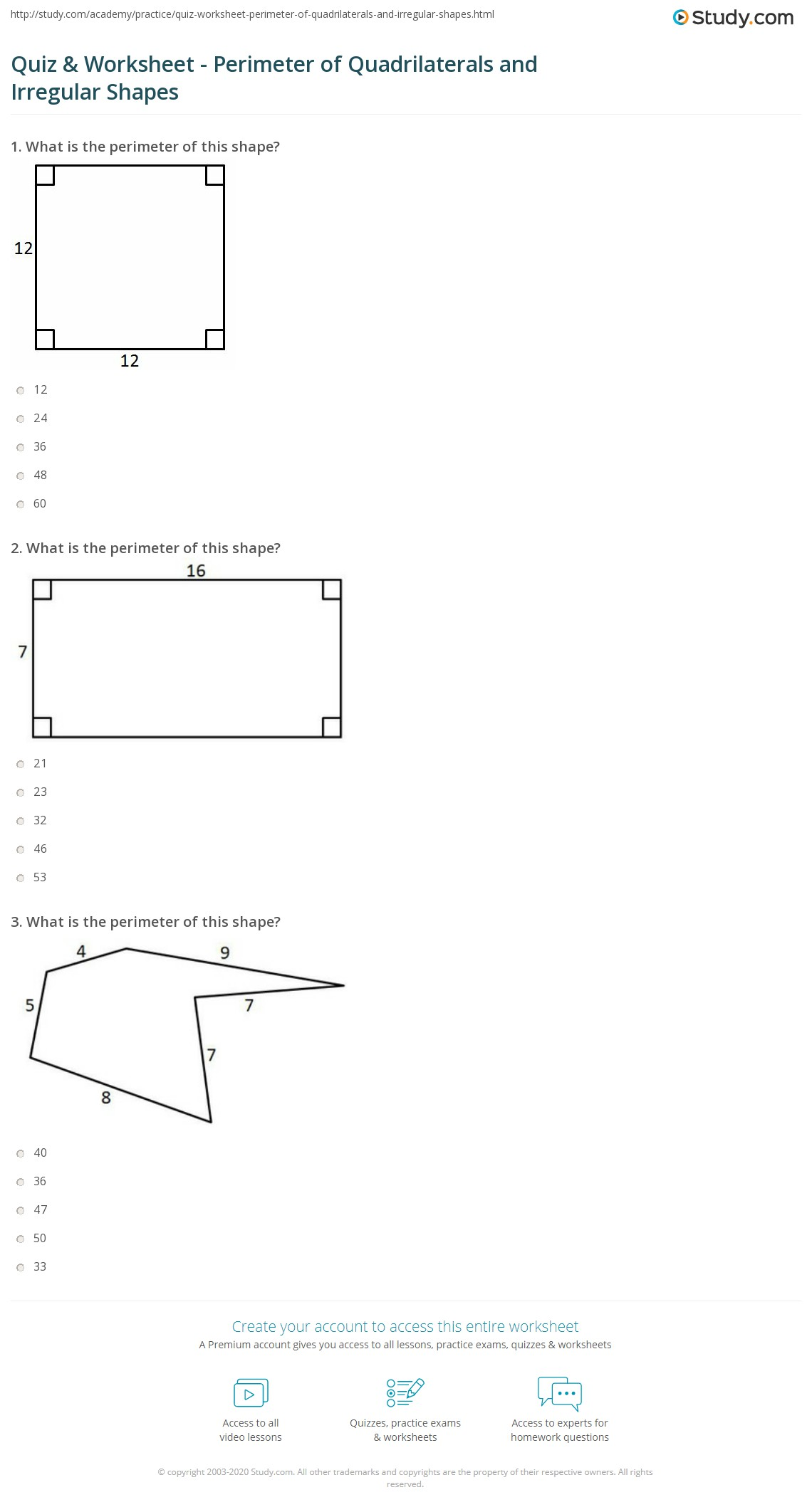 29 Math Worksheets Grade 7 Area And Perimeter