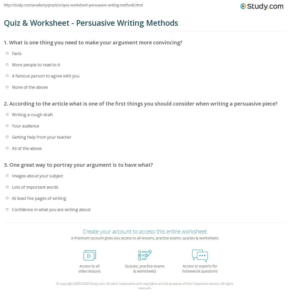 Worksheet Persuasive Writing Worksheets Grass Fedjp