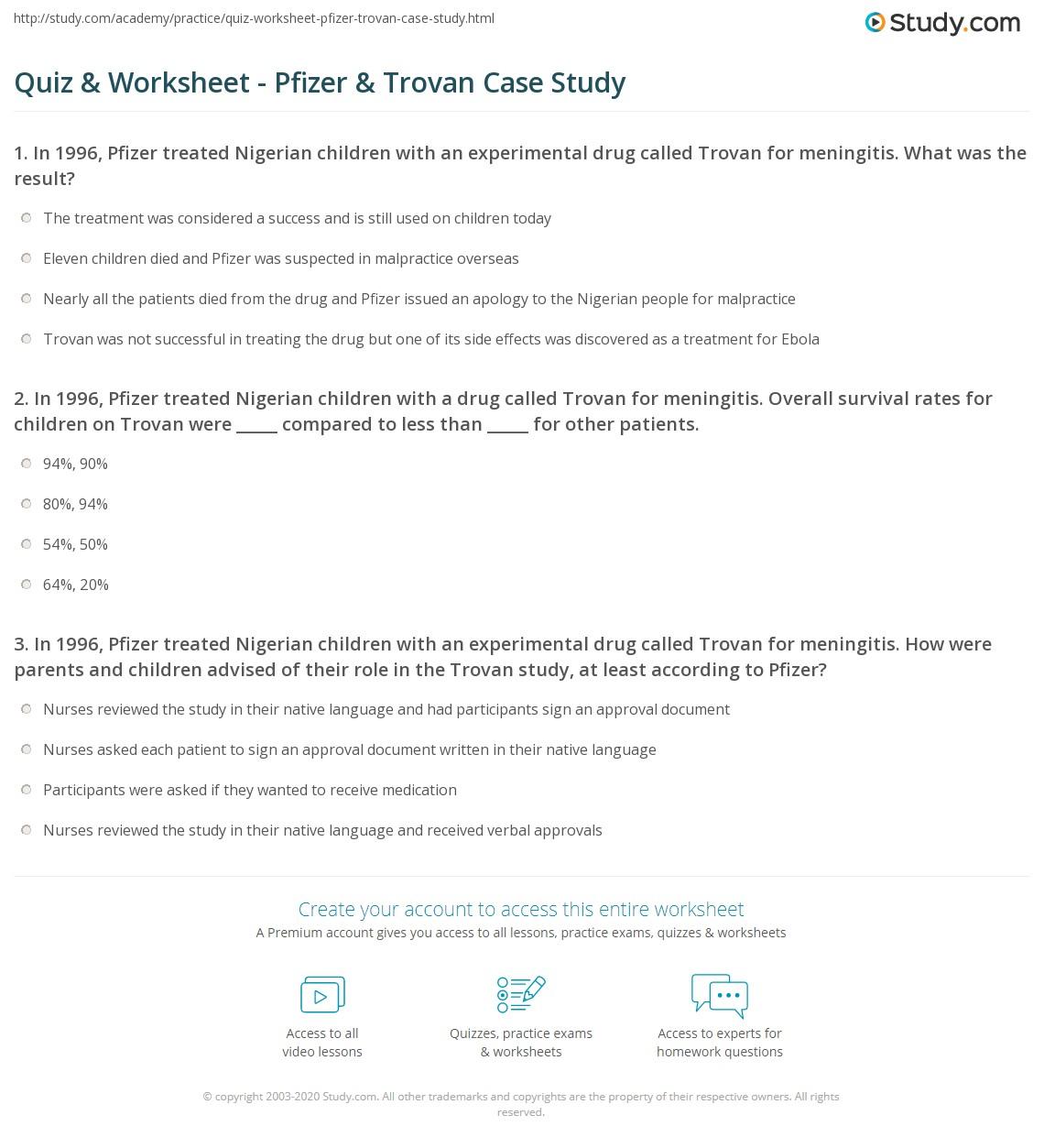 Pfizer Marketing Case Study