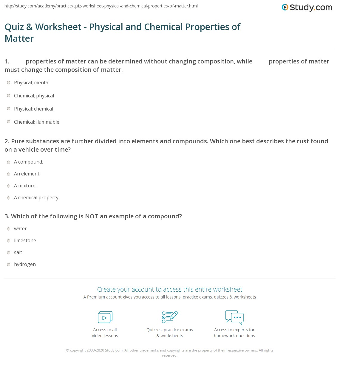 28 Properties Of Matter Worksheet Answers