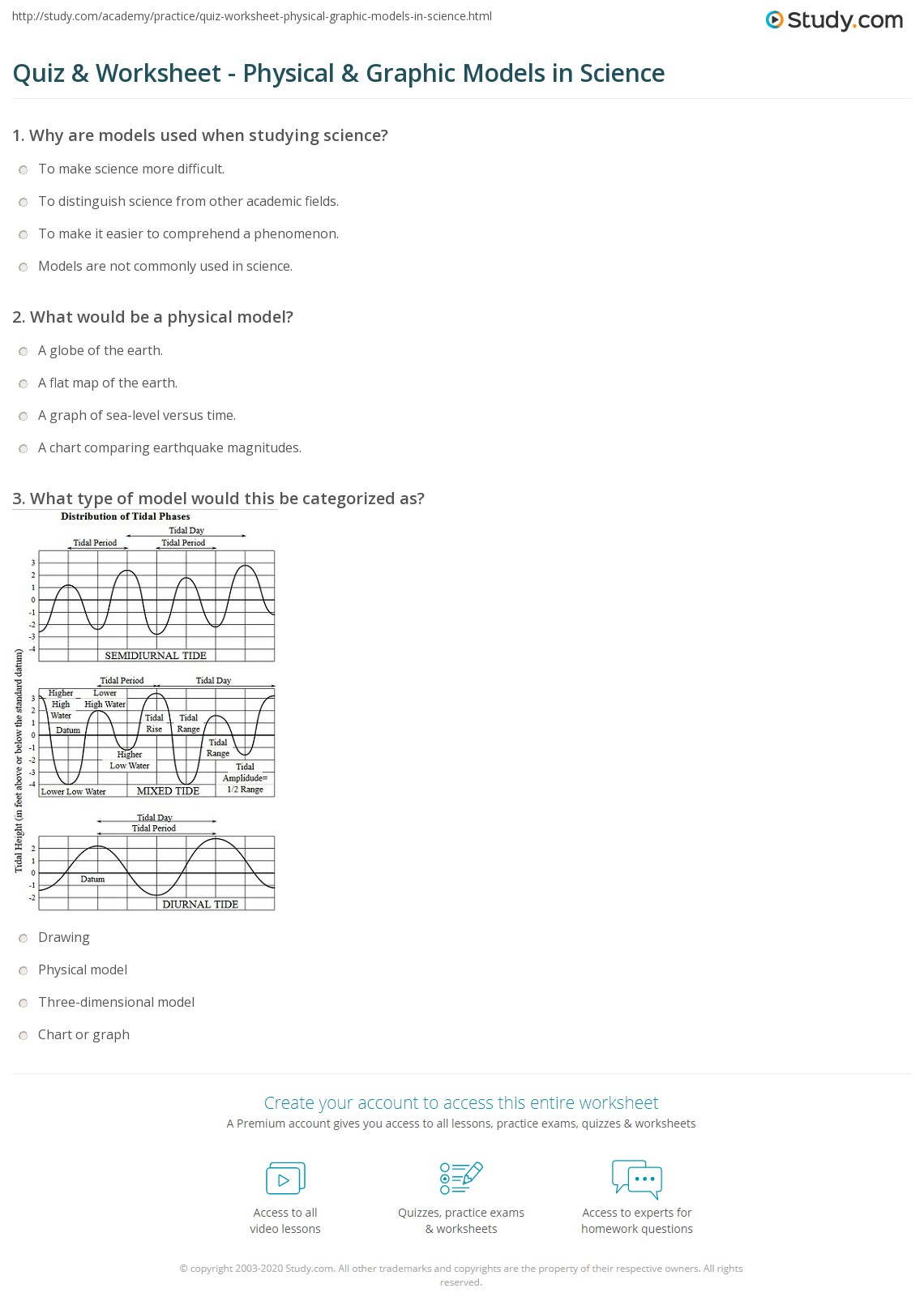 Physical Science Graphing Practice Worksheet