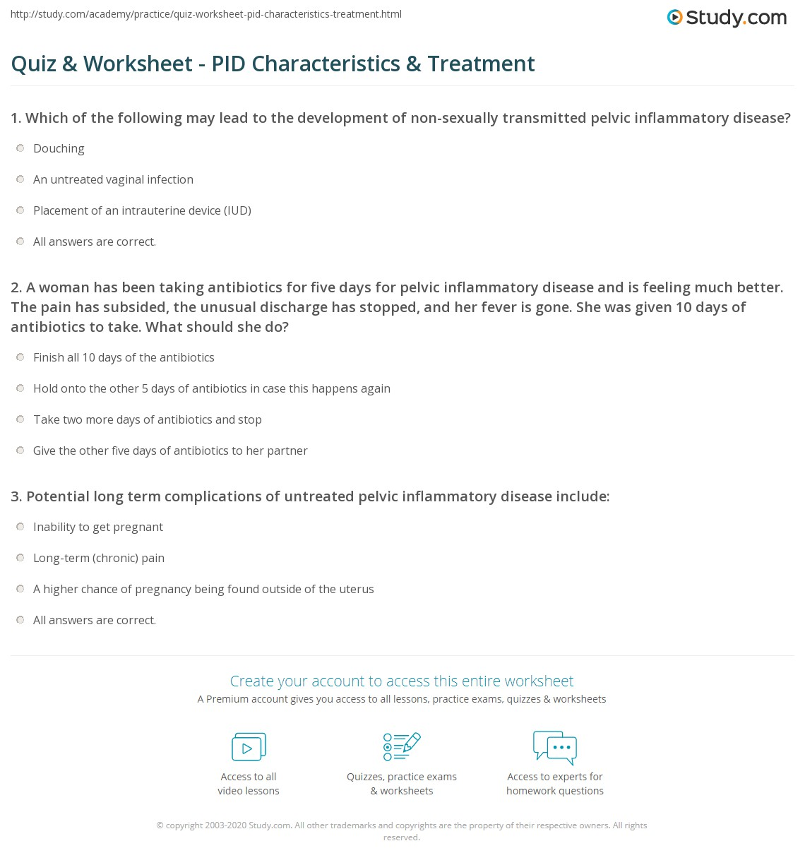 Ually Transmitted Infections Worksheet Answers Quiz Worksheetually Transmitted Disease