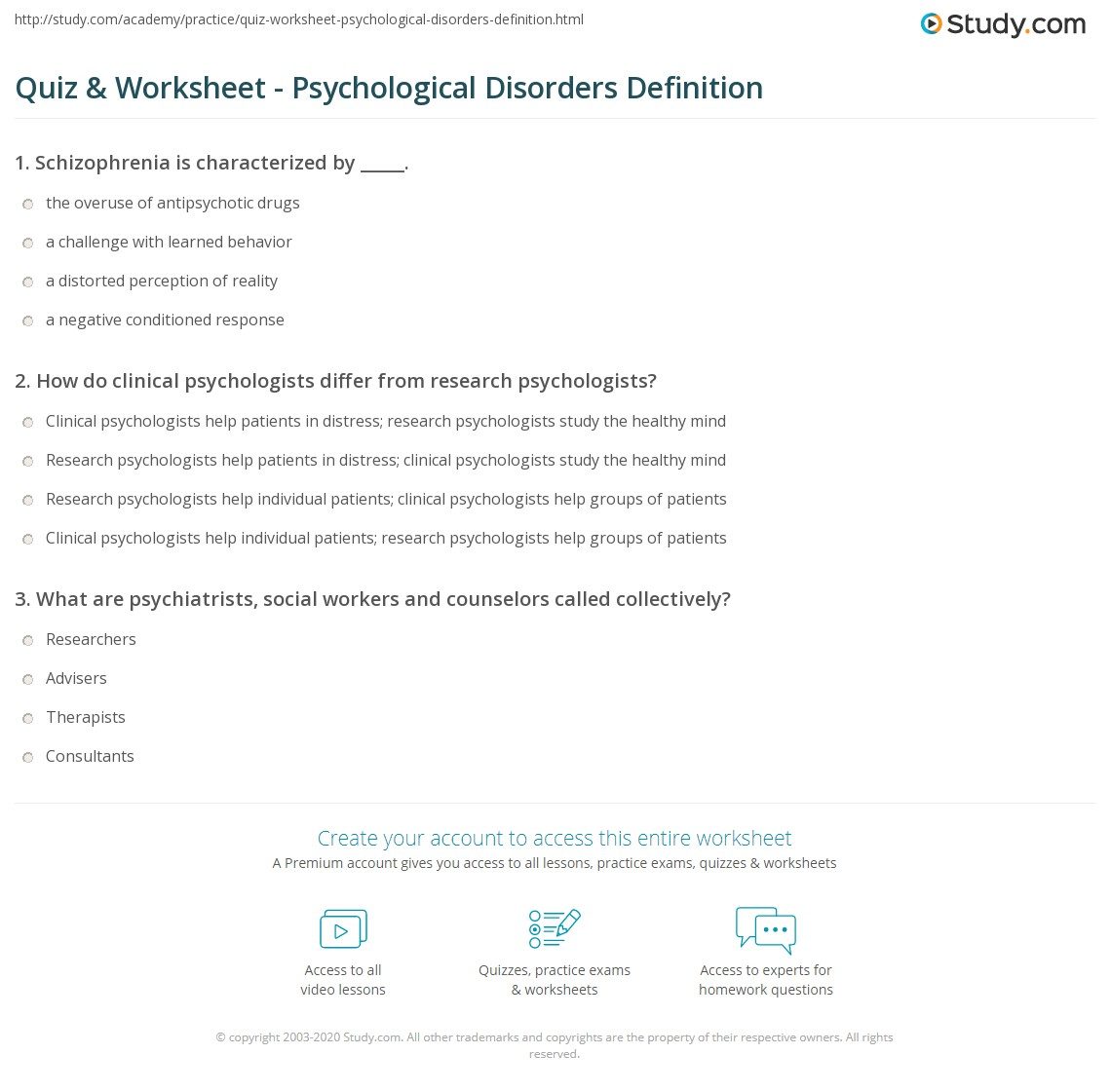33 The Practice Of Clinical Psychology Worksheet