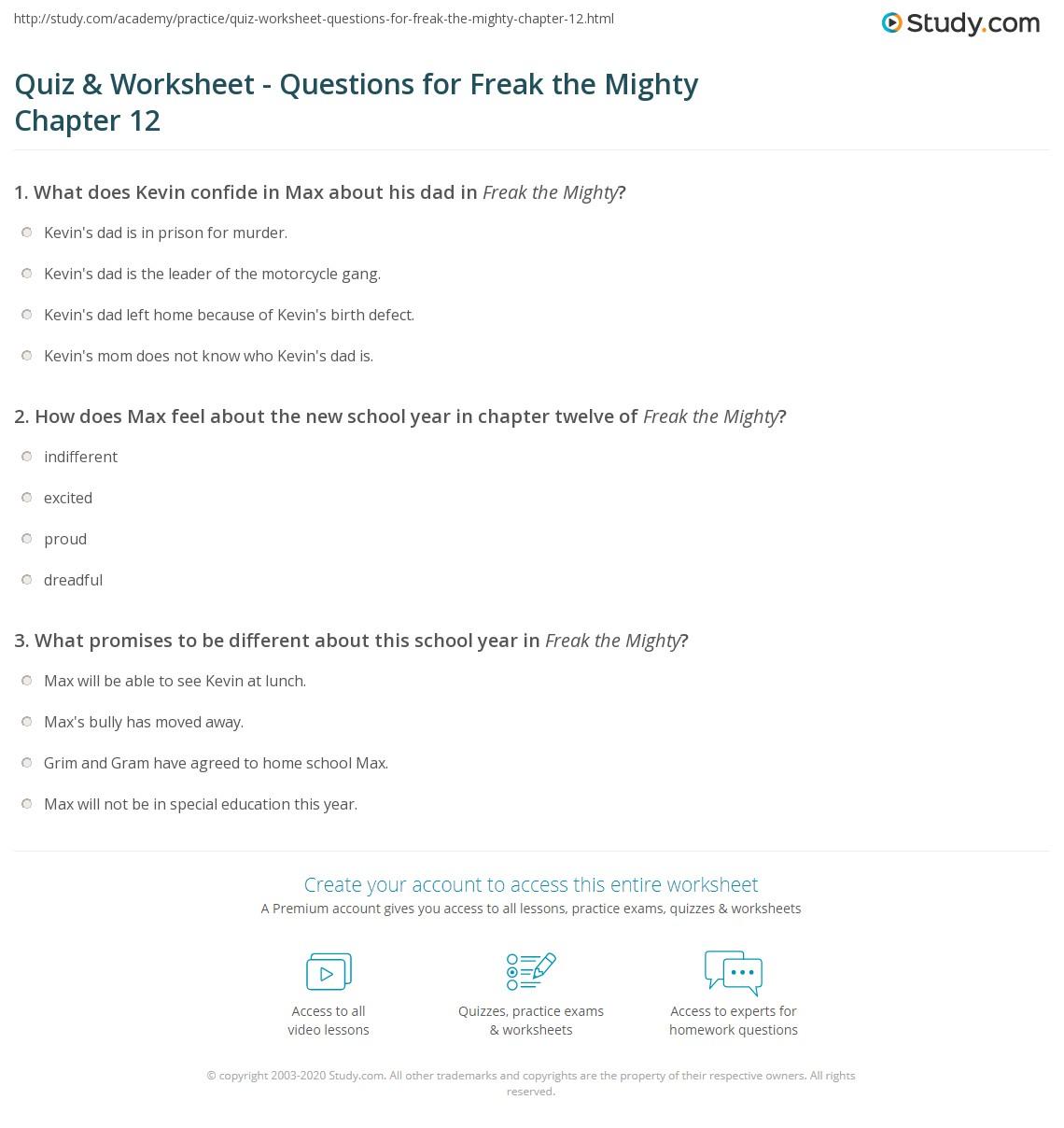 Quiz W Ksheet Questi S Fre K Mighty Ch Pter 12