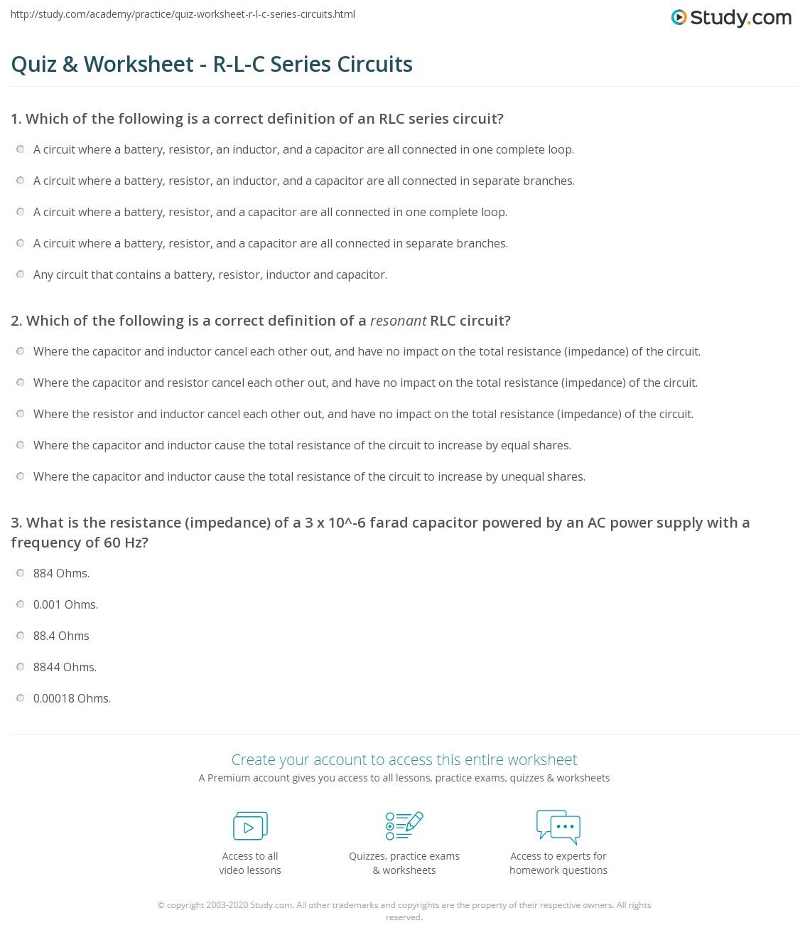 Worksheet Circuit Worksheet Grass Fedjp Worksheet Study Site