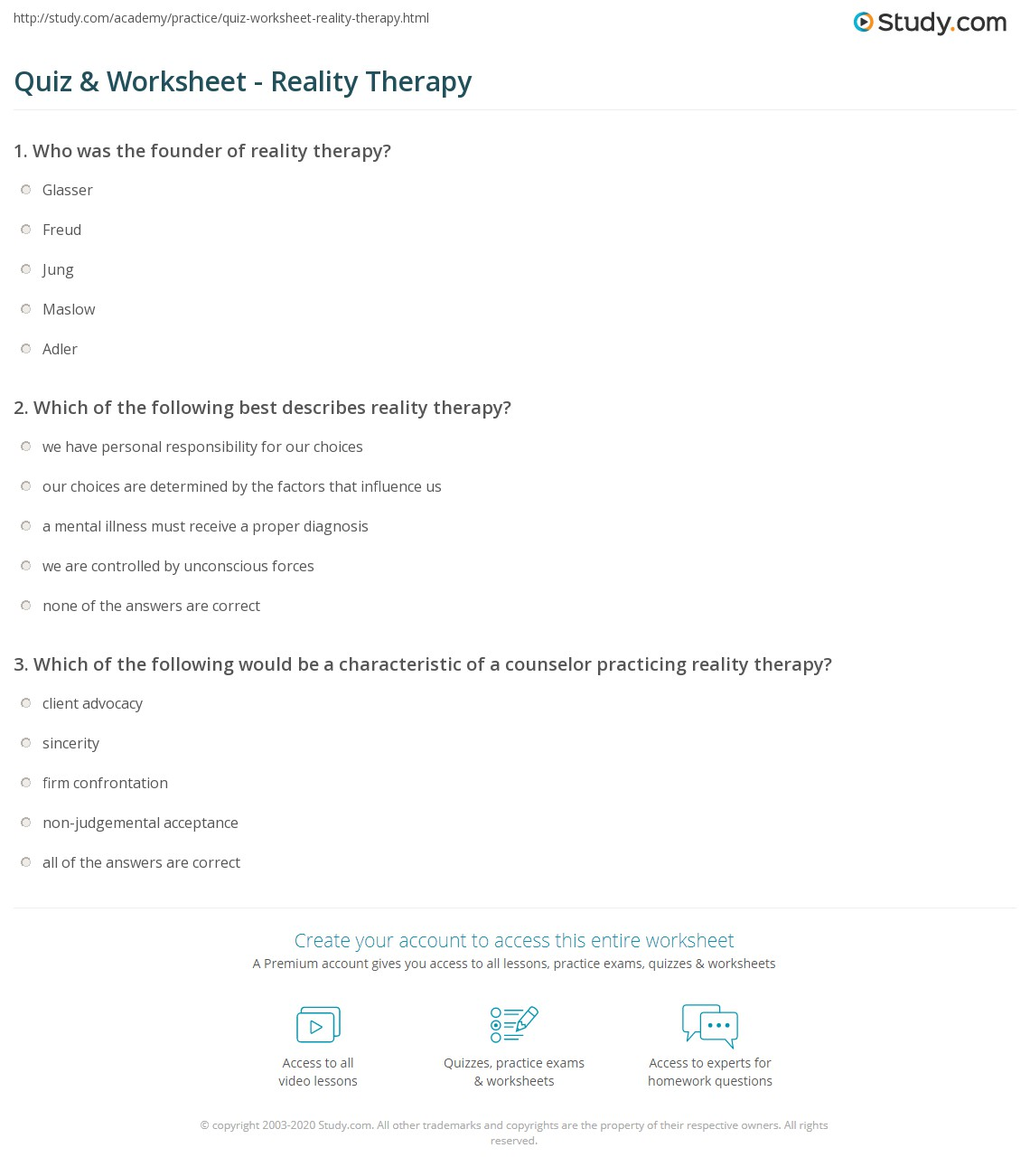 Beautiful Reality Therapy Wdep Worksheet Aod Activity Ideas