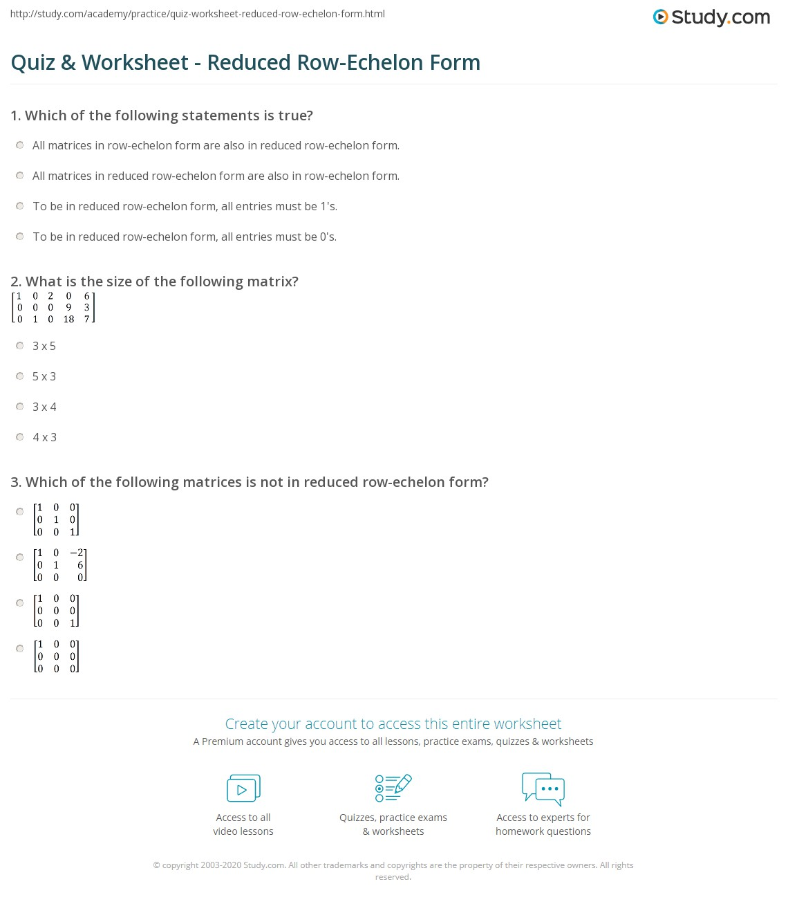 Solving Systems Of Equations With Matrices Reduced Row