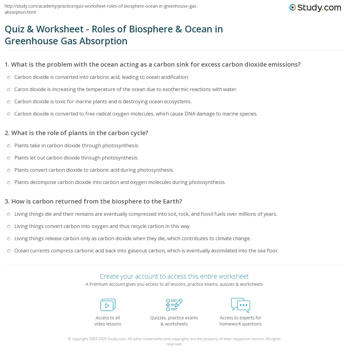 Humans In The Biosphere Worksheet Answers