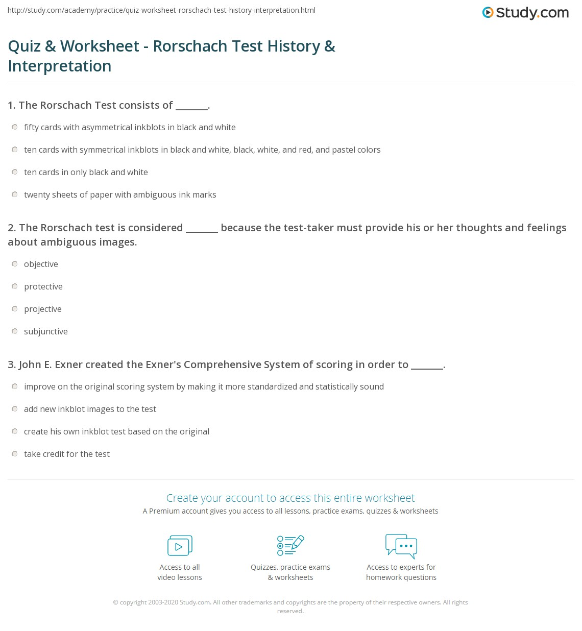Quiz W Ksheet R Sch Ch Test Hist Y Terpret Ti Study