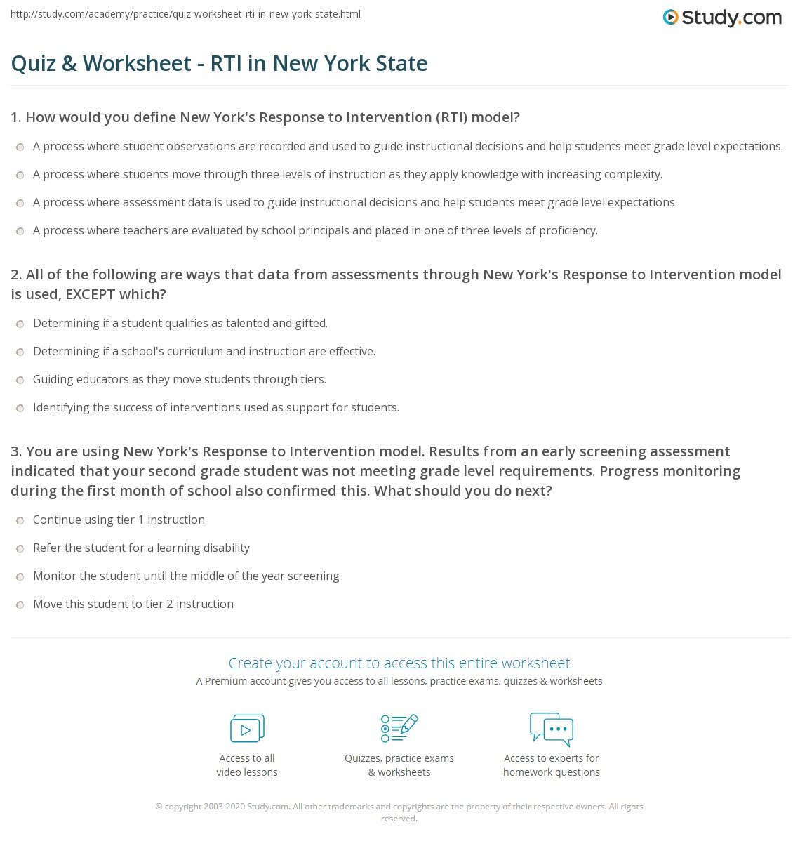 28 Response To Intervention Worksheet Answers